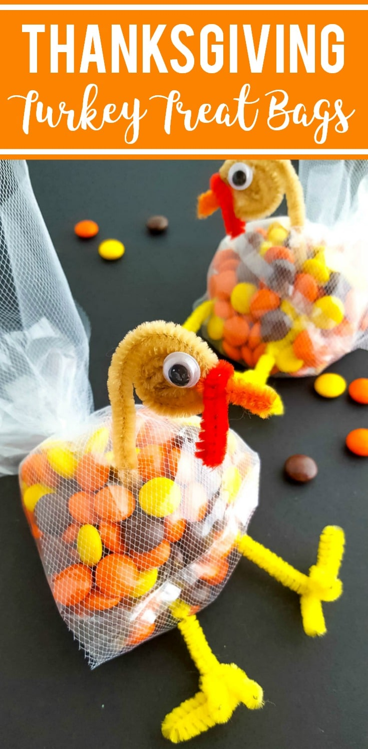 thanksgiving turkey treat bags