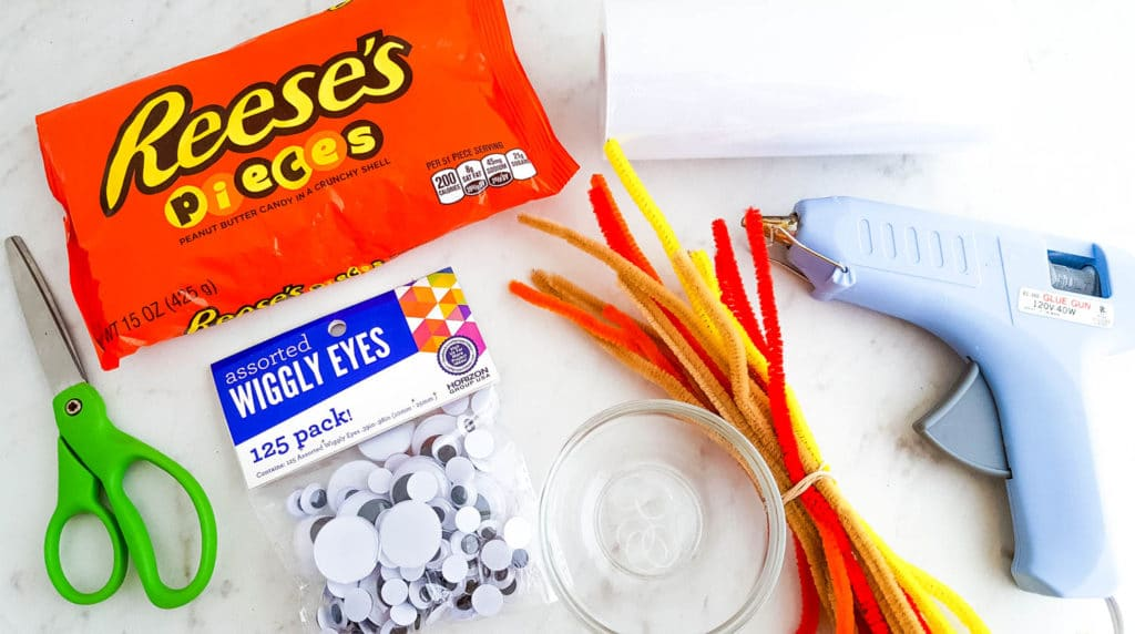 materials for Turkey Candy Bags