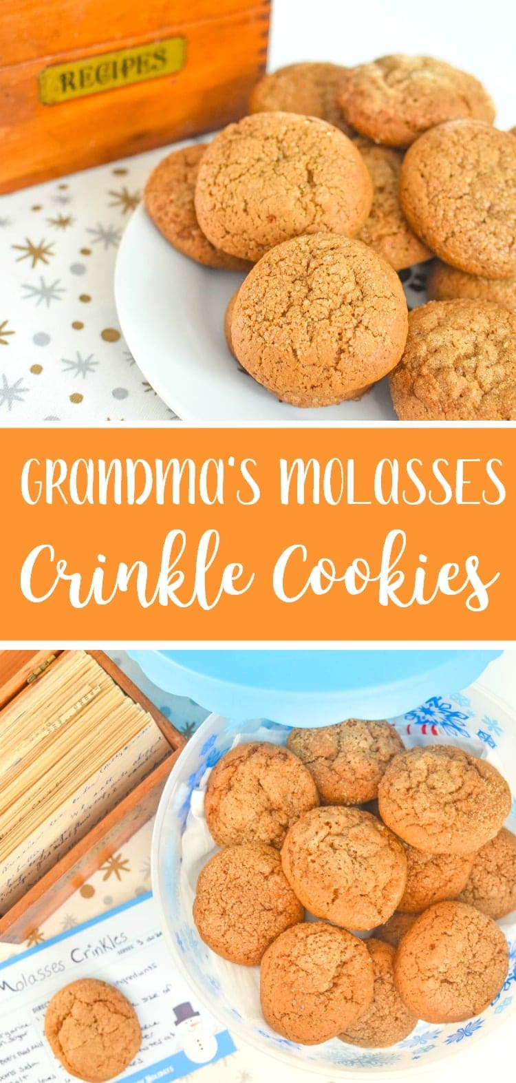 Grandma's Molasses Crinkle Cookies Recipe