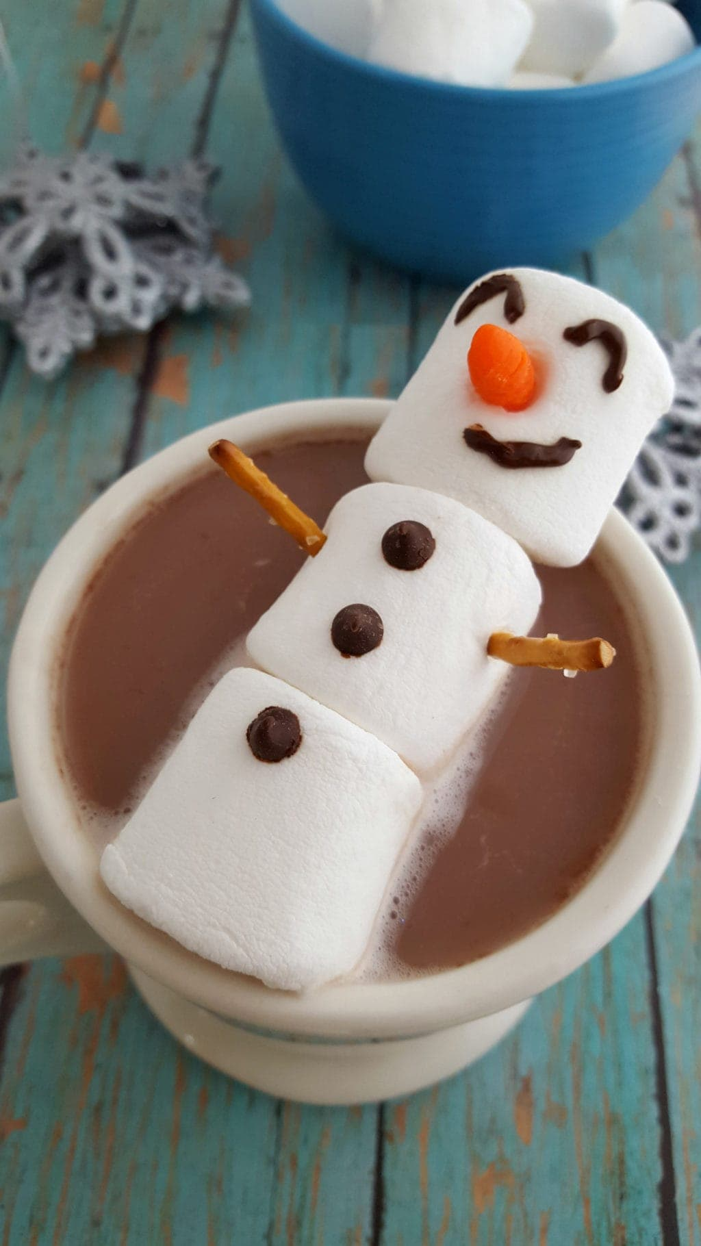 How To Make Marshmallow Snowman For Hot Chocolate