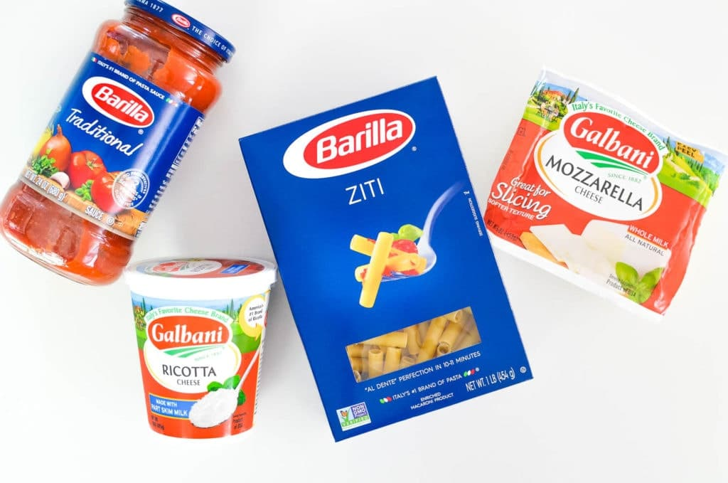 barilla baked ziti galbani cheese