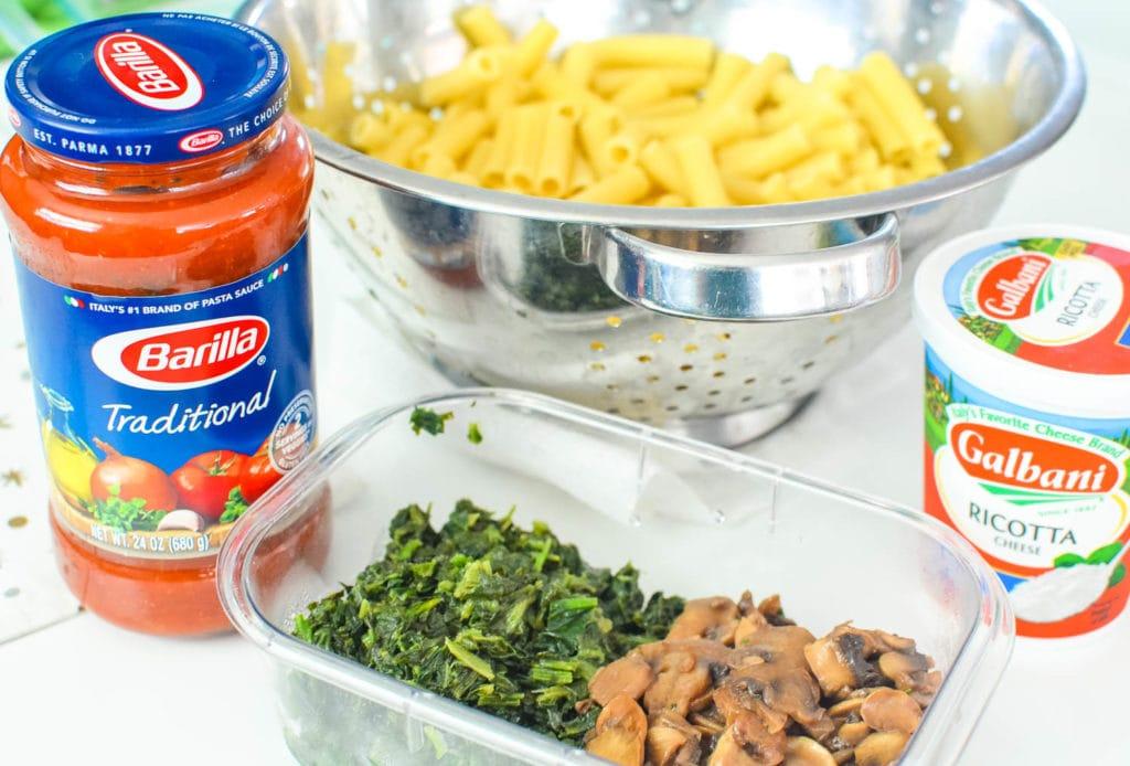 baked ziti casserole ingredients