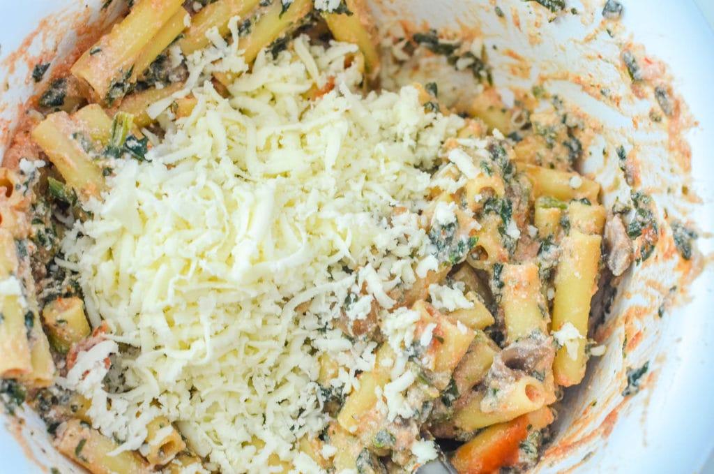easy vegetarian baked ziti casserole recipe