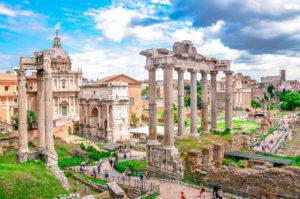 roman forum with kids