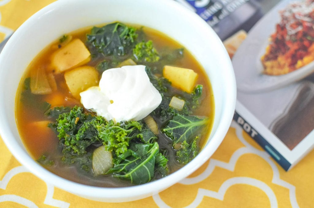 Instant Pot Smoky Potato and Kale Soup Recipe