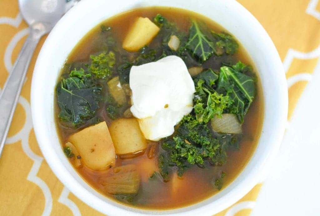 instant pot smoky potato and kale soup