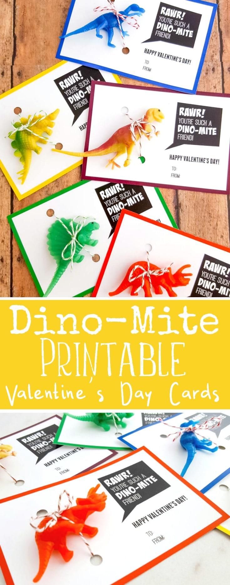 Dino-Mite Valentine Printable