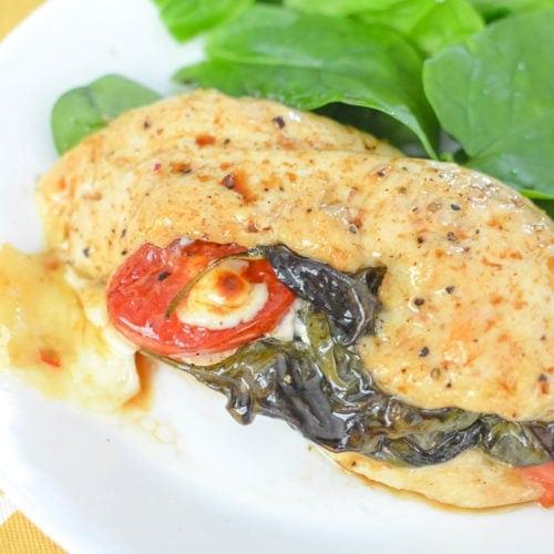 caprese stuffed chicken recipe