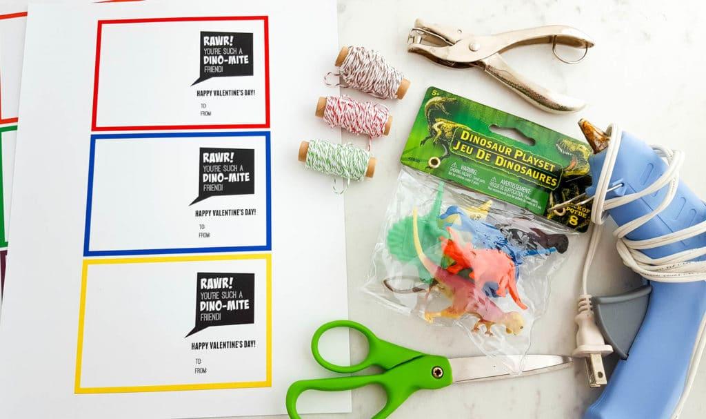 How to Make Dino-Mite Valentine Printable