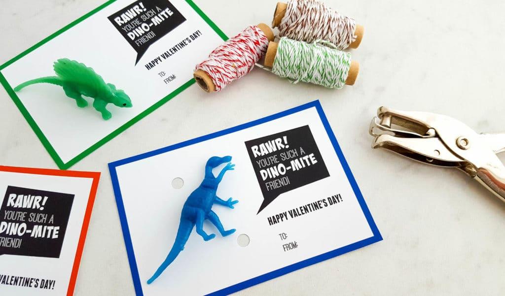 Printable Dinosaur Valentine's Day Cards | Dino-Mite Valentine Printable