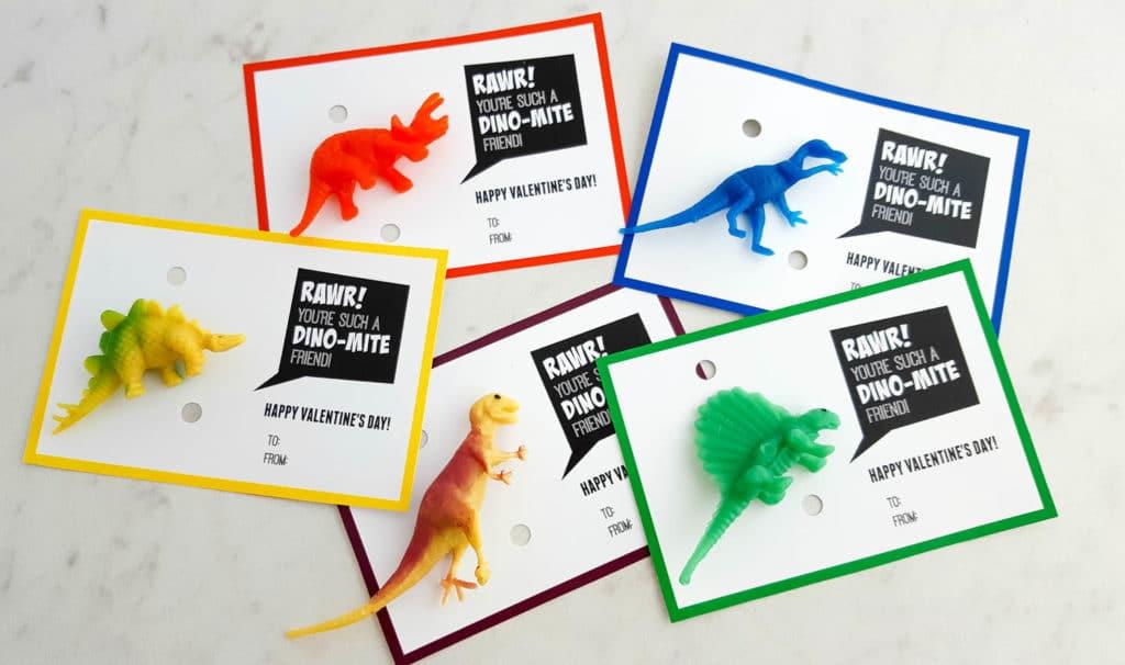 Free Dino-Mite Valentine Printable