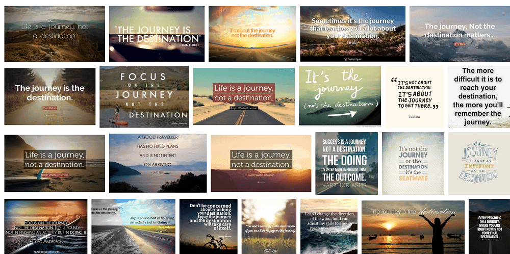 destination journey quote