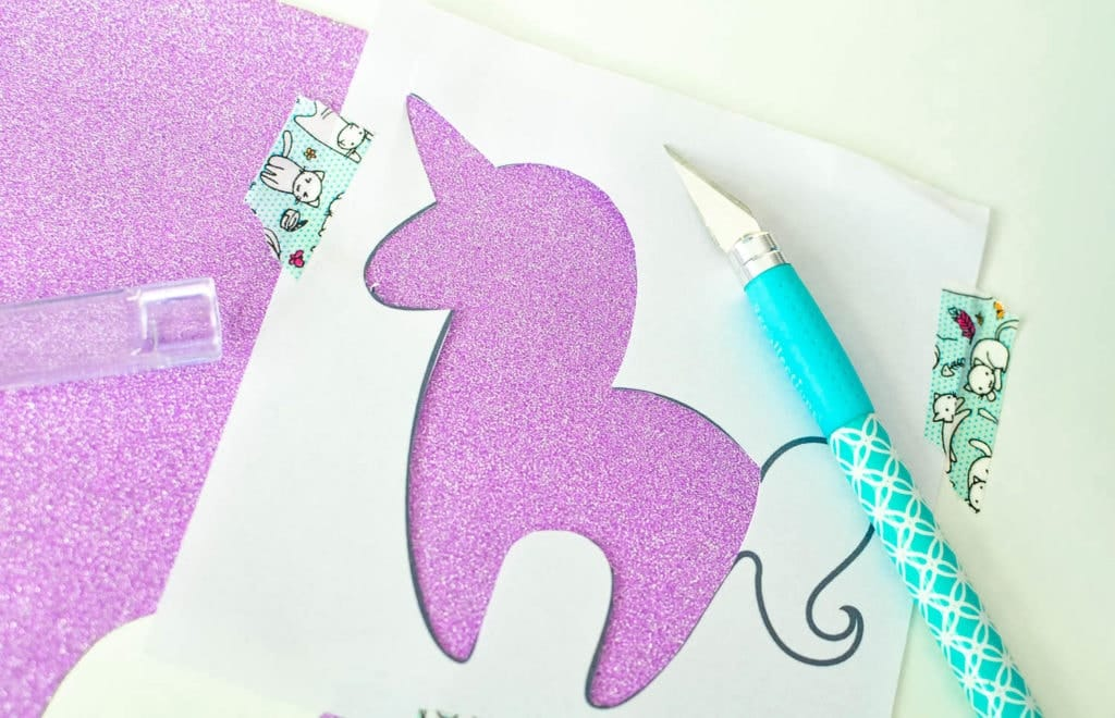 free unicorn bookmark printable yarn tail
