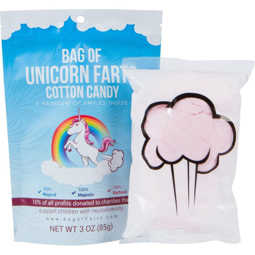 unicorn farts cotton candy