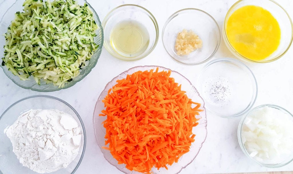 Carrot Zucchini Fritters Ingredients