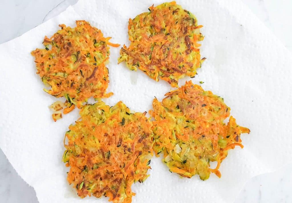 pan-fried Carrot Zucchini Fritters Recipe