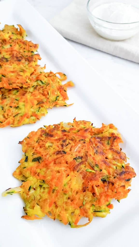 easy Carrot Zucchini Fritters Recipe