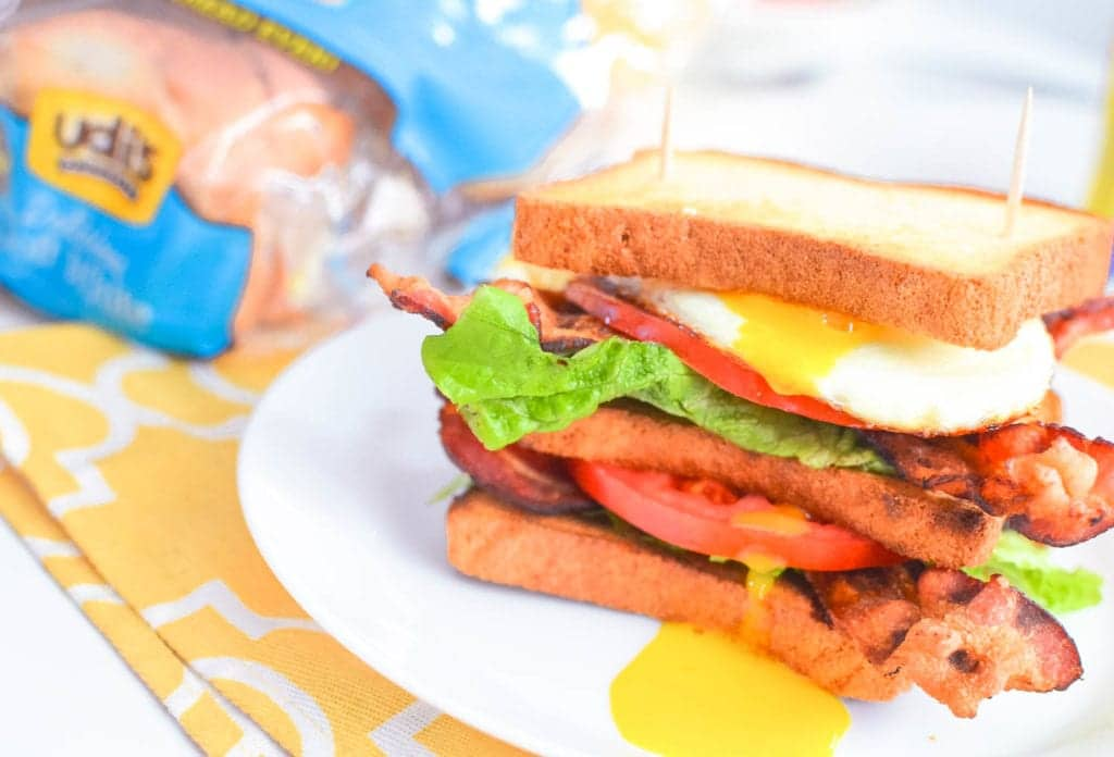 breakfast blt club sandwich