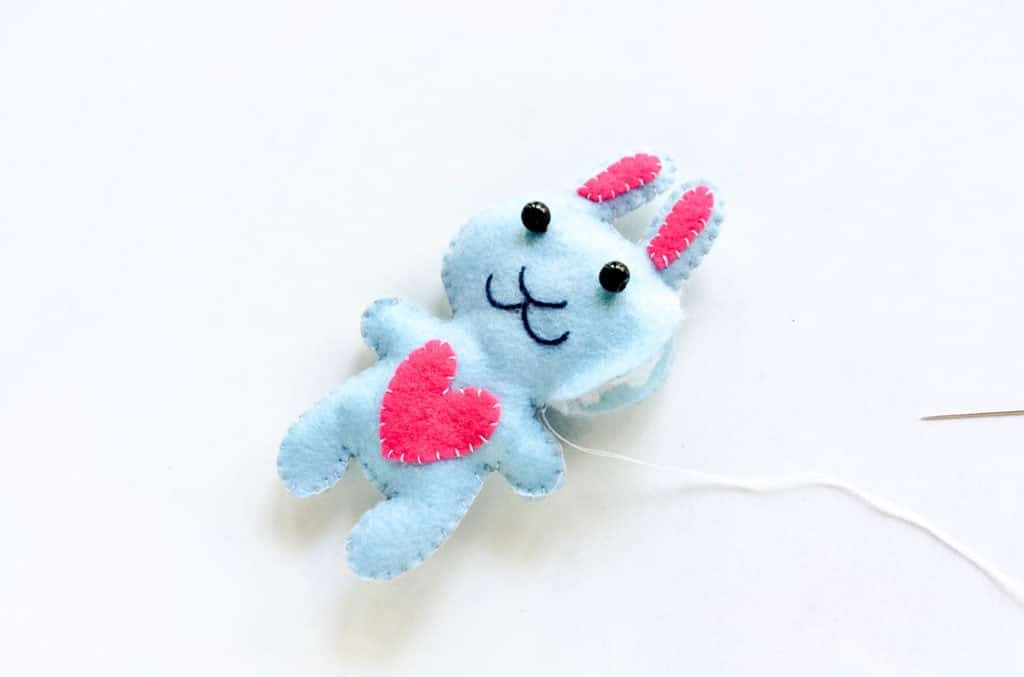 DIY Felt Bunny Plushie