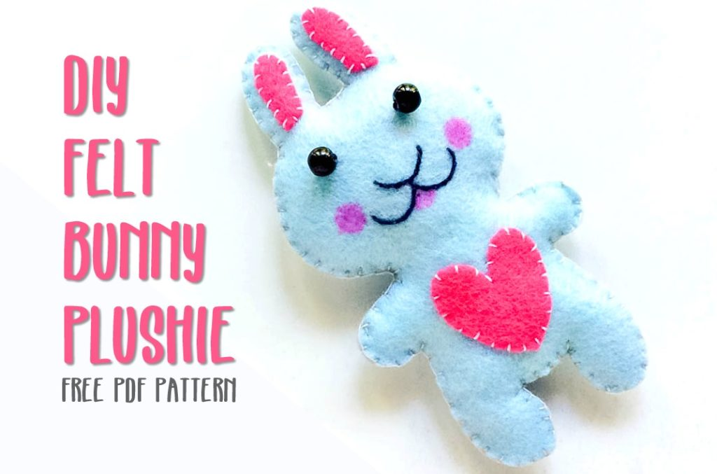 DIY Felt Bunny Plushie | How to Make a Felt Plushie Bunny