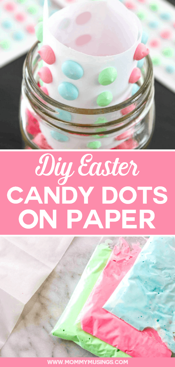 homemade candy dots on paper