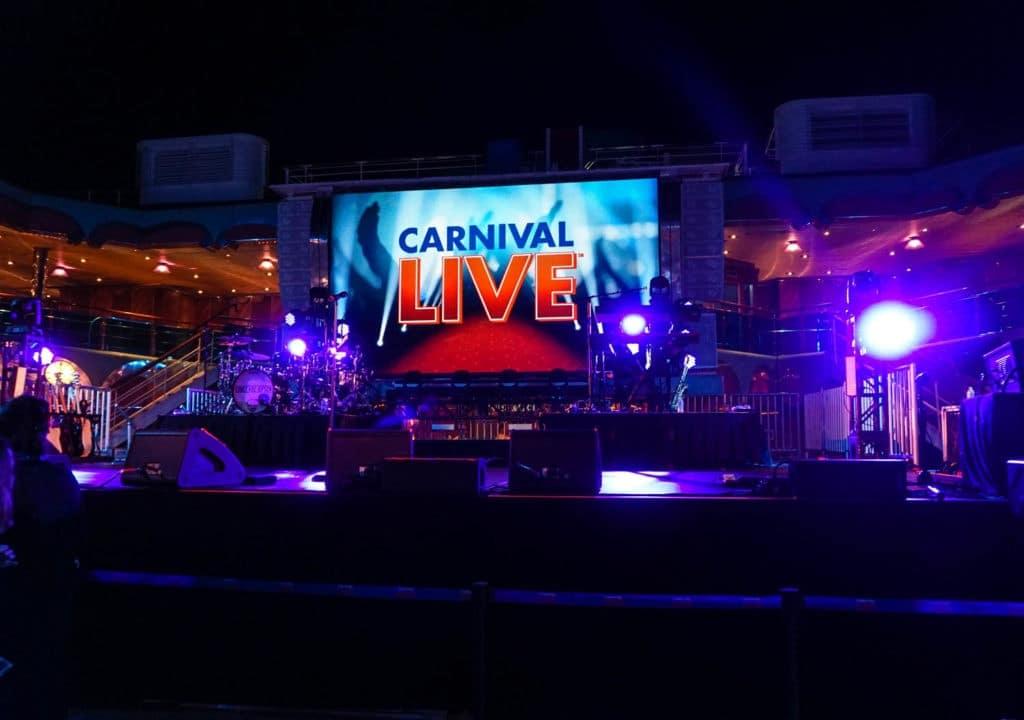 free concert carnival live lido deck