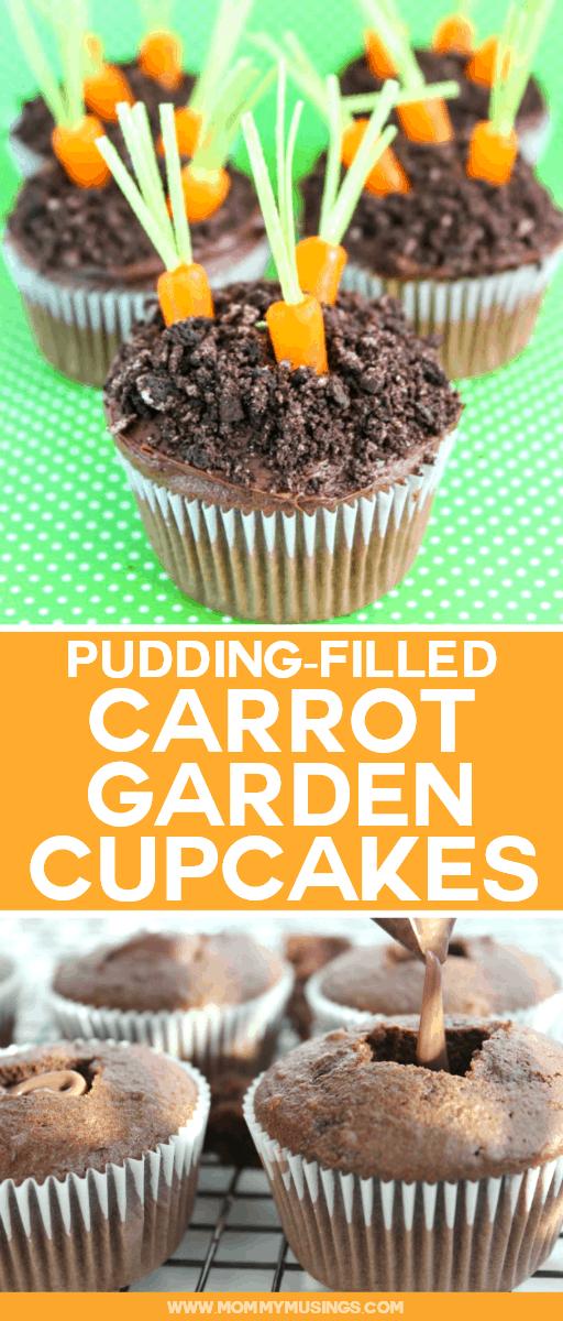 Spring Cupcakes -Easter Carrot Garden Cupcake