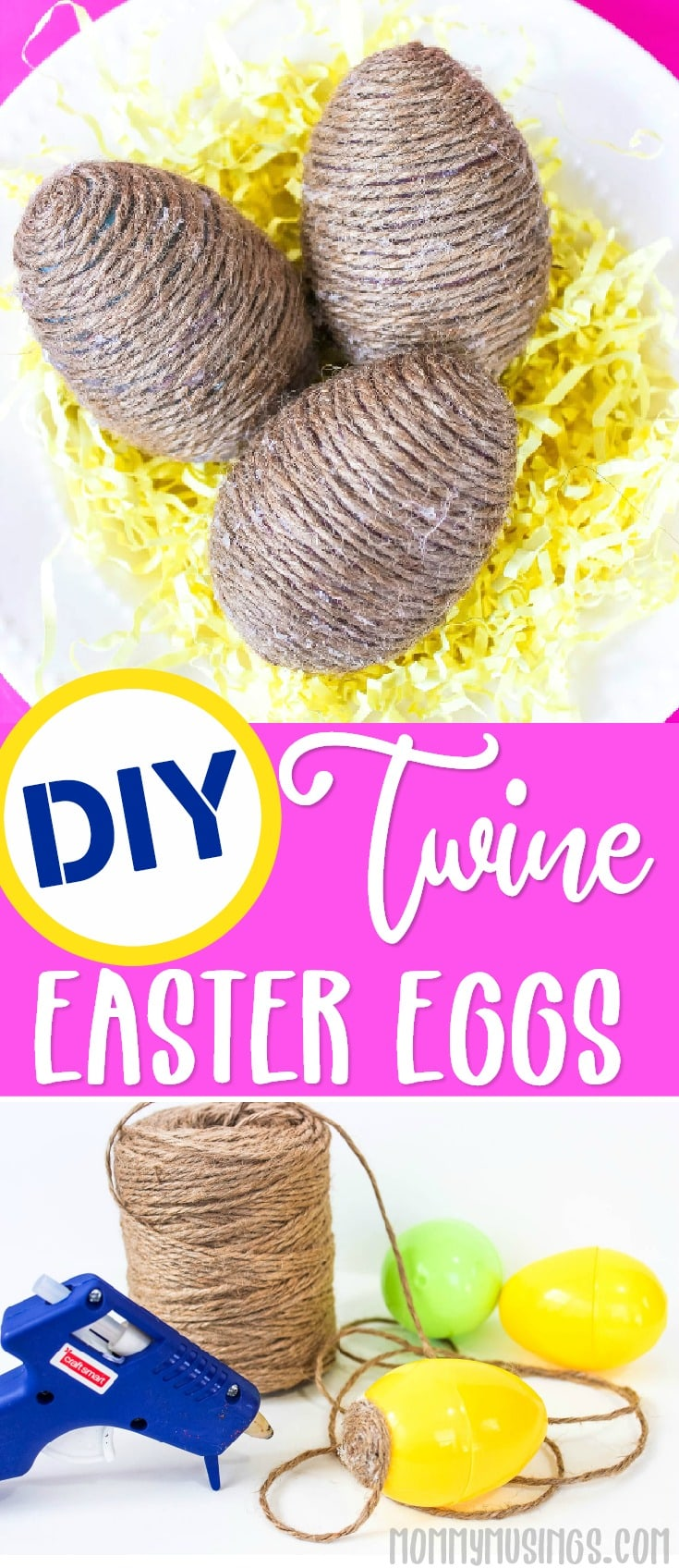 EASY DIY TWINE EASTER EGGS CRAFT