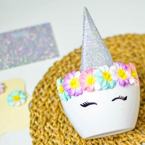 diy unicorn planter craft