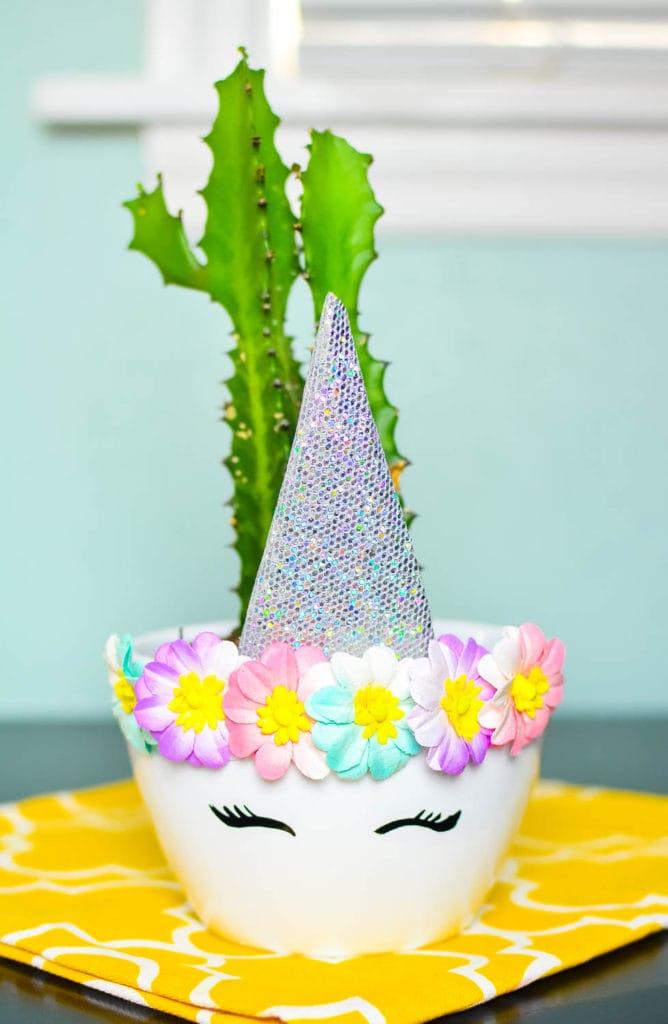 DIY Unicorn Planter Craft
