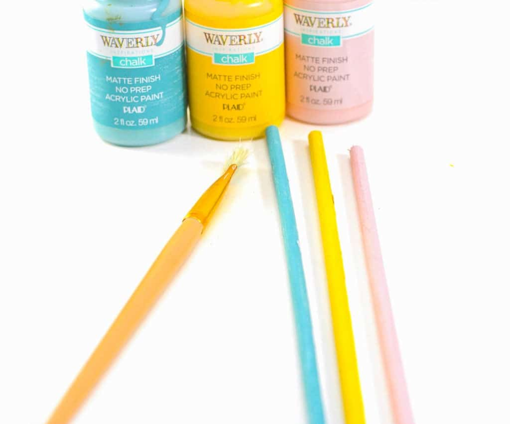 pastel paint easter wands