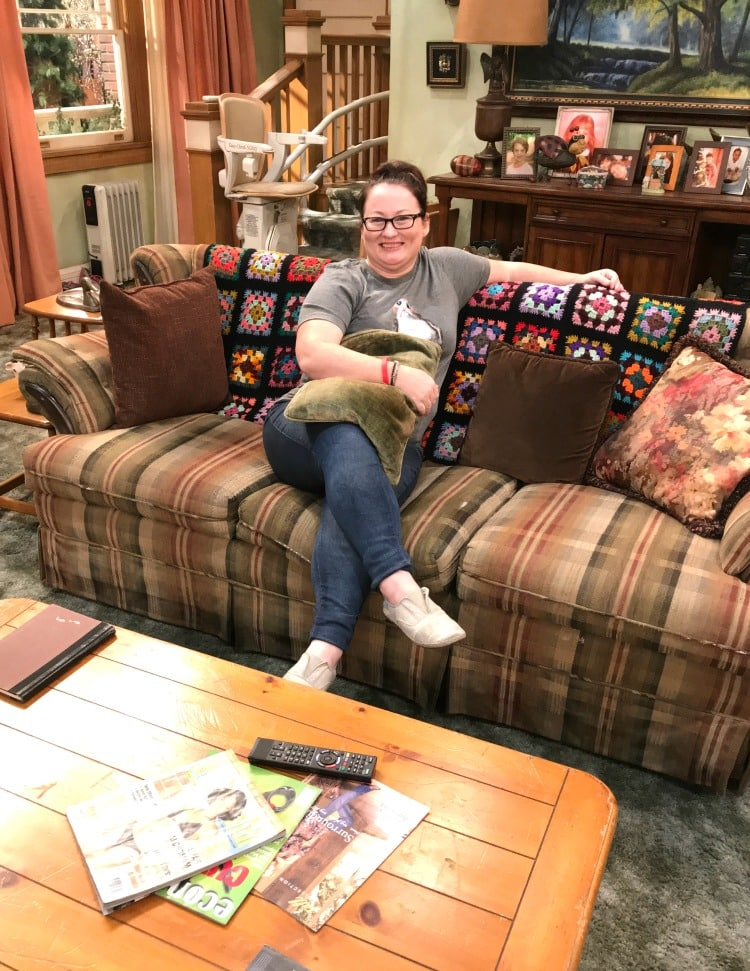 new roseanne couch set visit