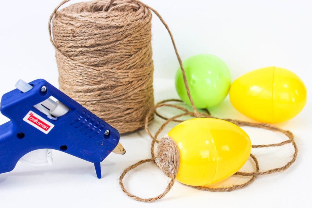 Twine Wrapped Easter Eggs Jute Twine Easter Craft
