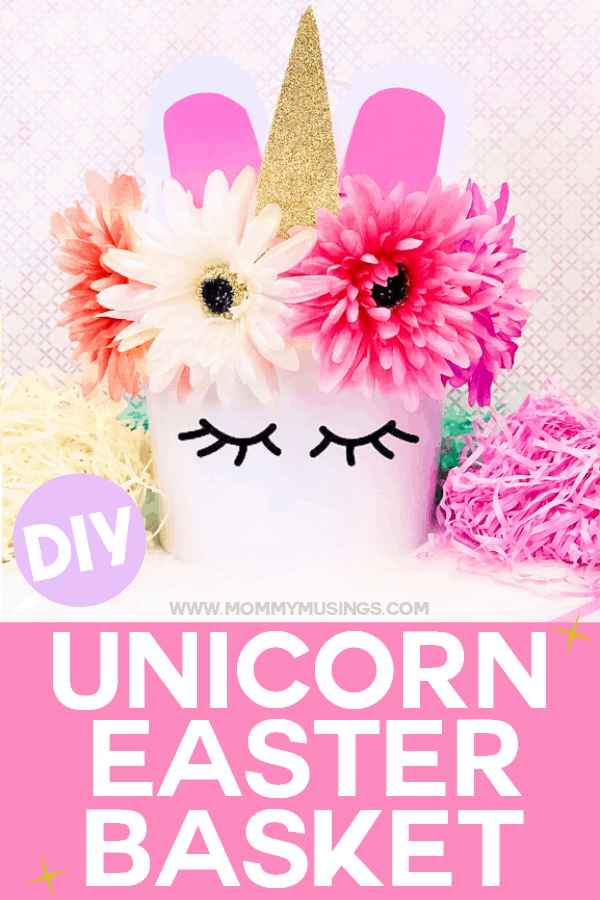 unicorn easter basket diy