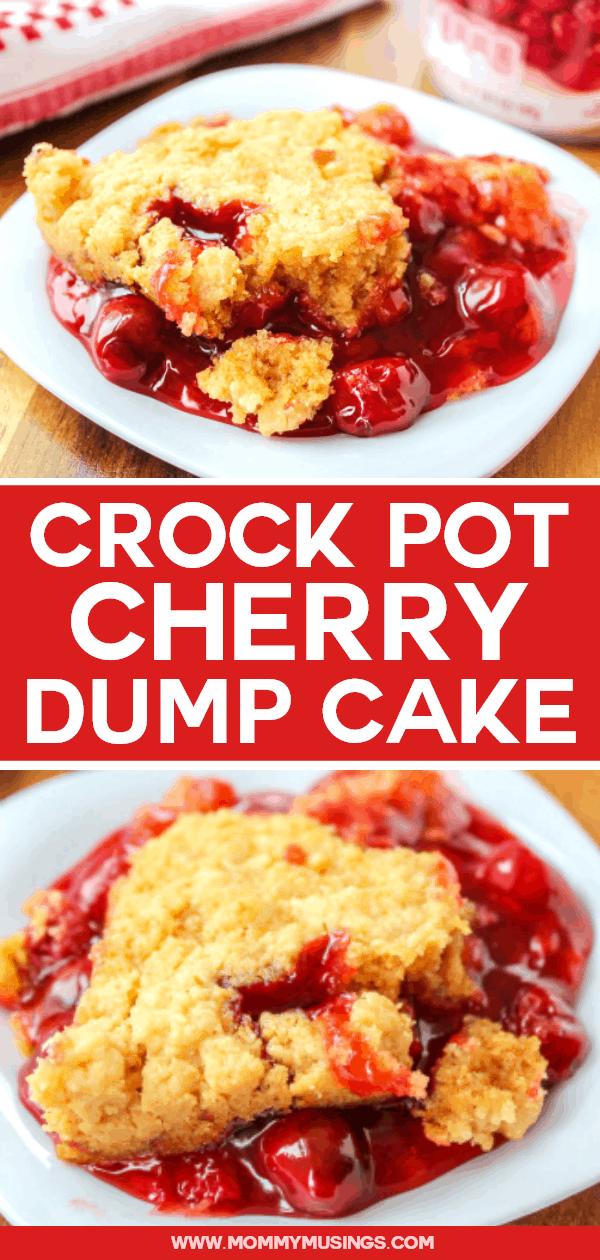 crock pot cherry dump cake