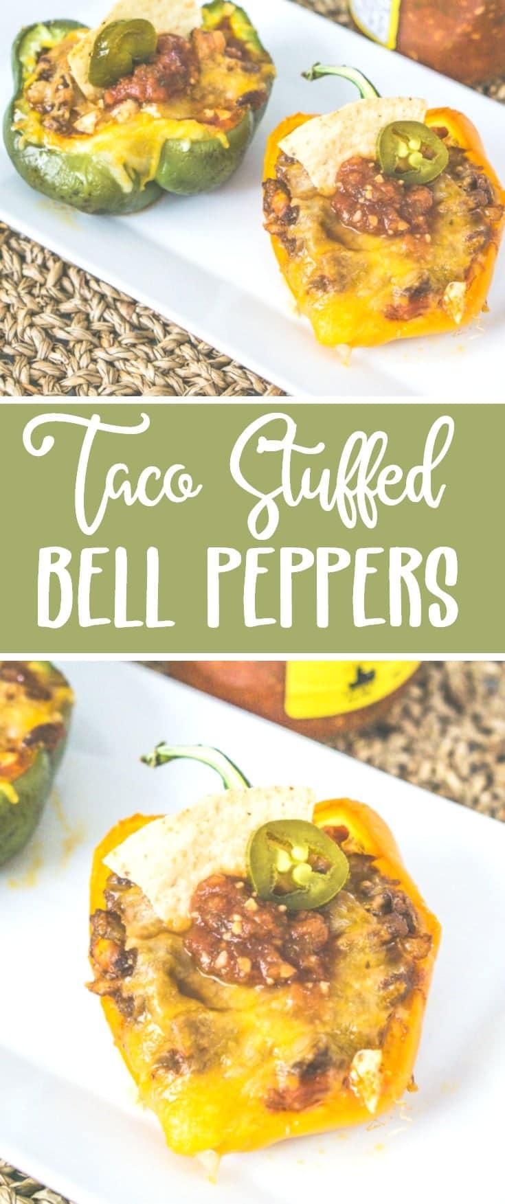 taco stuffed bell peppers recipe