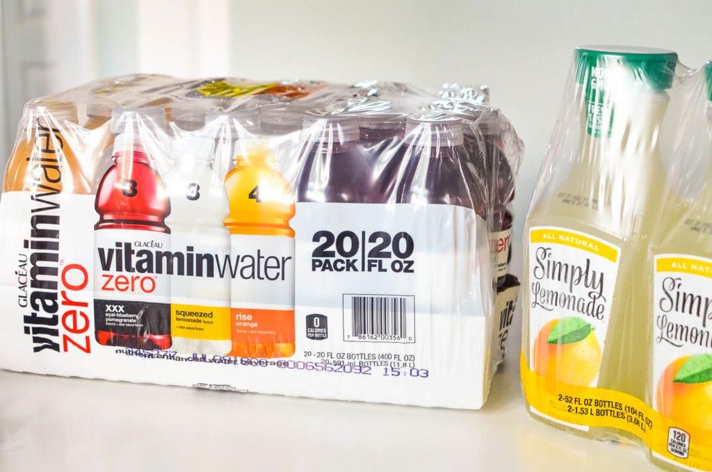 vitaminwater simply lemonade sam's club