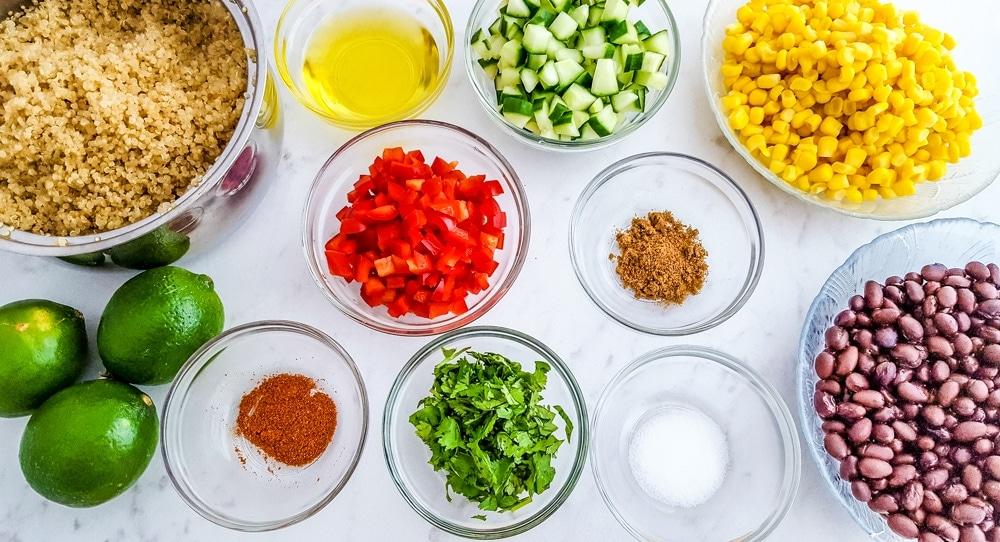 Southwest Quinoa Salad Ingredients