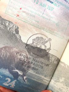 galapagos islands passport stamp