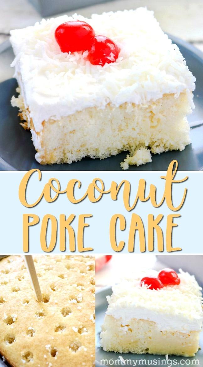 easy coconut poke cake recipe