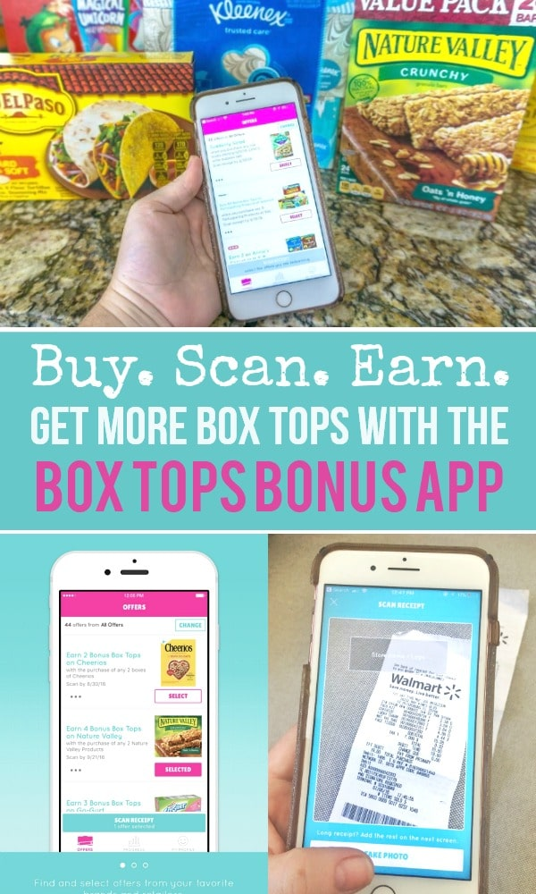 Buy 5 Participating Products > Scan Your Receipt with the Box Tops Bonus app > Earn 50 Bonus Box Tops