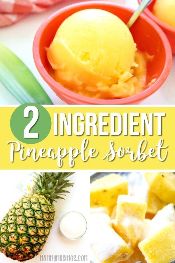2 ingredient pineapple sorbet recipe