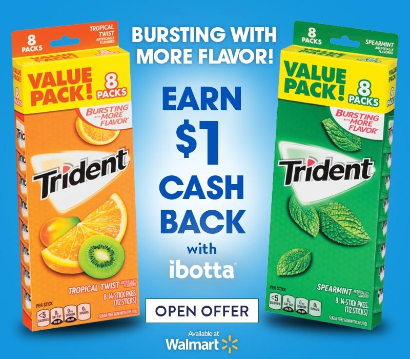 trident gum at Walmart