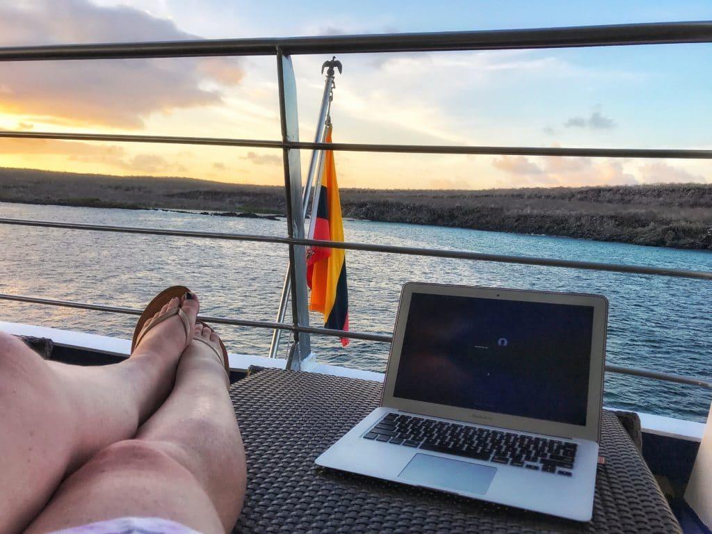 Galapagos cruise sunset