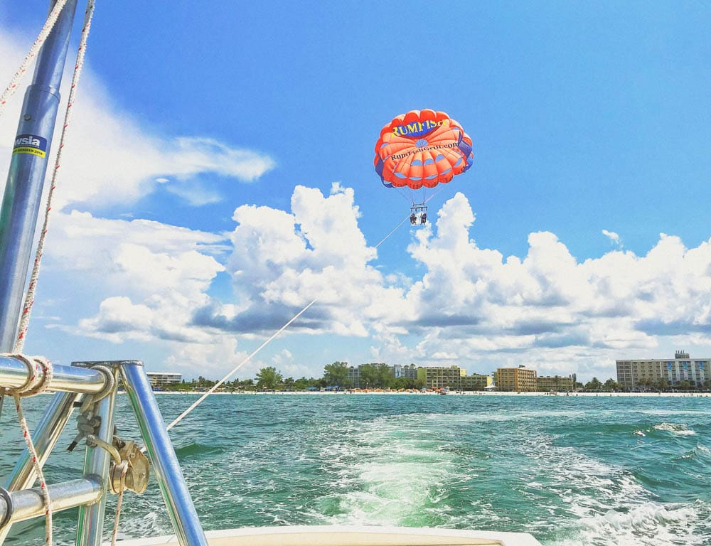 parasailing at tradewinds resort st pete beach