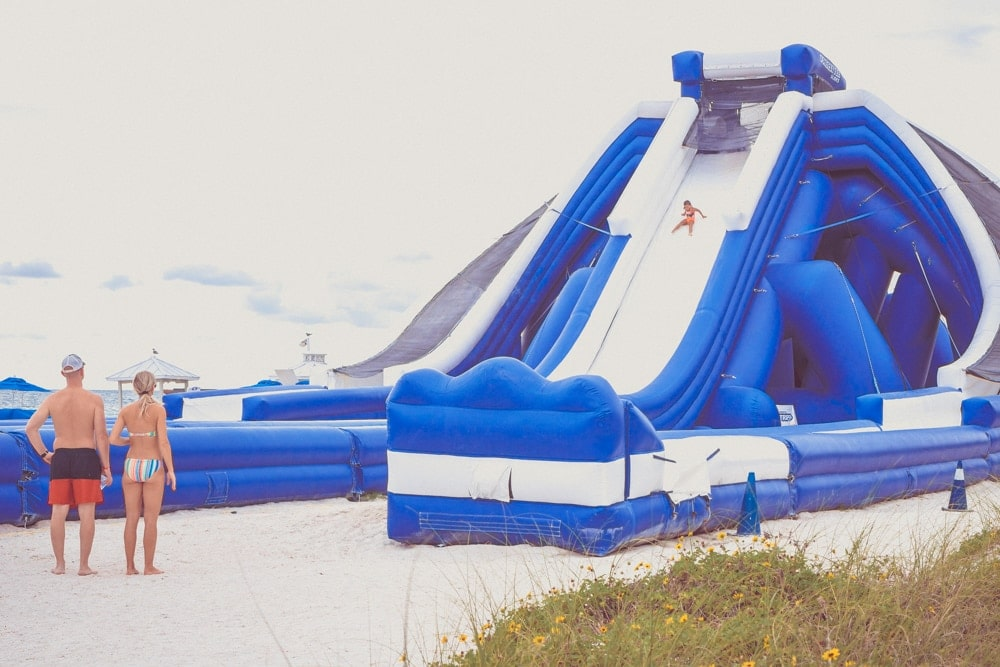 tradewinds resort inflatable slide