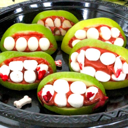 apple monster mouths for halloween