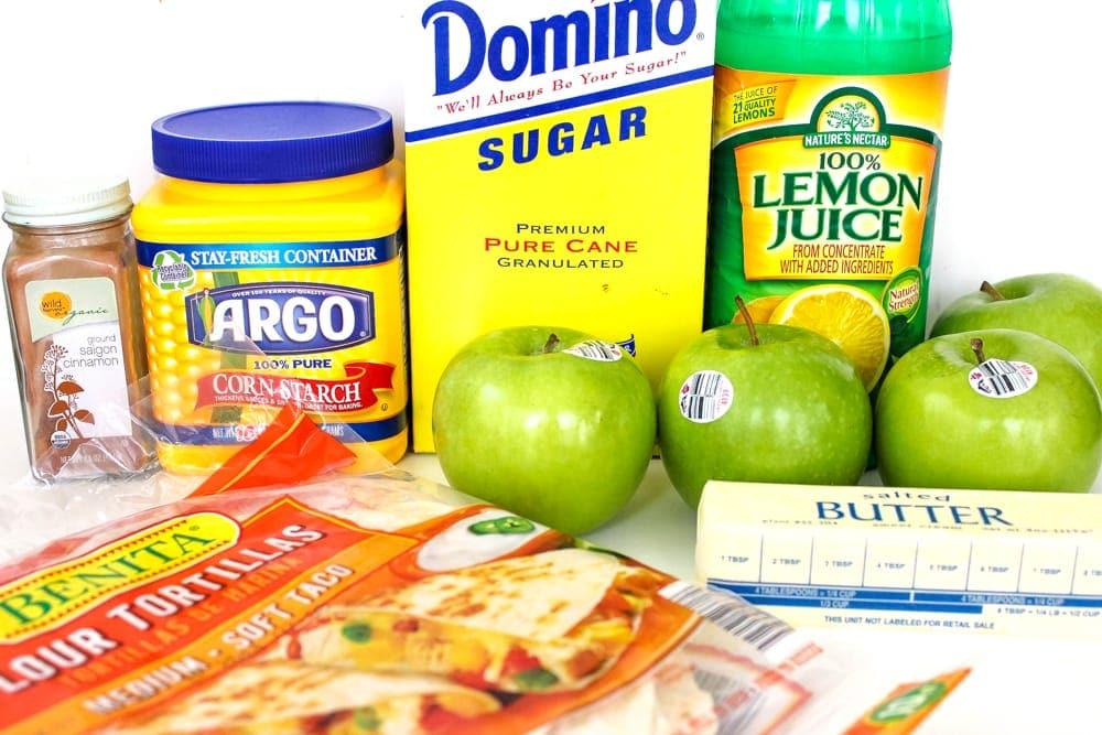 Apple Chimichanga Ingredients