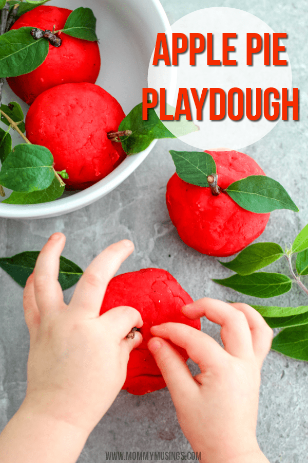 Fall Scented Apple Playdough Recipe