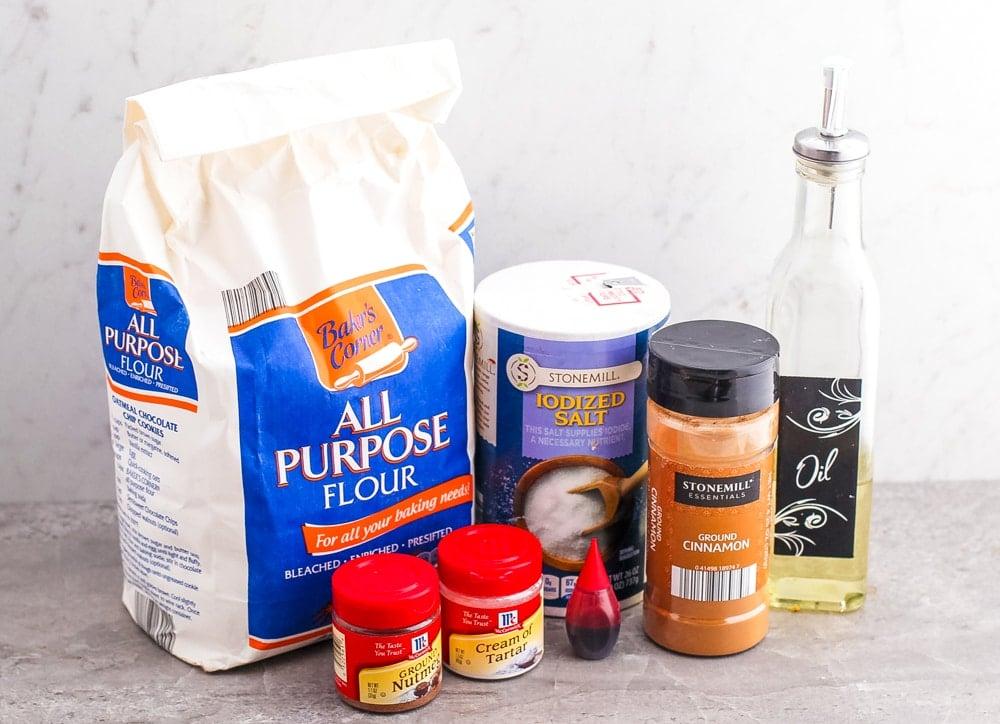 Apple Pie Playdough Ingredients